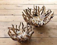 From WS Home - natural driftwood bowls - I think I'll remember to go driftwood h. - From WS Home – natural driftwood bowls – I think I'll remember to go driftwood hunting and hop - Driftwood Sculpture, Driftwood Art, Driftwood Table, Sculpture Art, Beach Crafts, Diy And Crafts, Driftwood Projects, Driftwood Ideas, Wood Creations