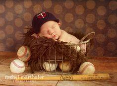 Minnesota Twins newborn photo boy - baseball - twin cities newborn photographer - Rachel Marthaler Photography