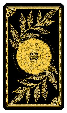Template of the reverse of the cards | The Marigold Tarot by Amrit Brar