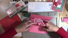 VIDEO - How to Make a Heart Pop Up Card using Cricut Artfully Sent #cricut #closetomyheart #artfullysent #artphilosophy #valentinesday obsessedwithscrapbooking.com