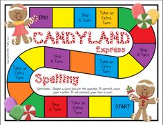 Candyland Express Spelling is a review for the first 24 high frequency words in writing / Sitton words.