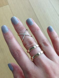 Pave X Midi Ring with our Double Bar Ring Preppy Girl, Midi Rings, Jewelry Trends, Silver Rings, Fashion Jewelry, Bling, Crystals, Diamond, My Style