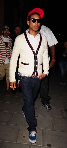 Great fashionisto,Pharrell Williams.