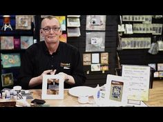 CHA 2016: Andy Skinner Vintage Stamped Picture Frame - YouTube
