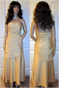 Dress Gown Formal Evening Party Prom Bridesmaid Long Mother Bride Strapless Sz 6 #ForeverYours #FitandFlare #Formal