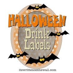 It's Written on the Wall: (Freebies) Family Friendly Halloween Drink Labels for Kids & Adults Halloween Labels, Theme Halloween, Halloween Drinks, Halloween Goodies, Holidays Halloween, Spooky Halloween, Vintage Halloween, Halloween Treats, Halloween Pumpkins