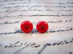 Red Blood Cells Post Stud Earrings, Handmade Polymer Clay Jewelry, Science, Human Anatomy, Geek Art Miniature, Sterling Silver, Miniature