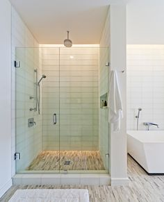 Bathroom Shower Lighting Ideas The ablution — arguably one of the best advantageous (yet acutely underrated) apartment in your accomplished house. Sure, you've got the toilet and the Glass Tile Shower, Bathroom Shower Doors, Glass Shower Enclosures, Frameless Shower Doors, Bathroom Flooring, Shower Walls, Glass Tiles, Shower Floor, Bathroom Tile Designs