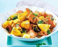 Kasseler-Ananas-Curry