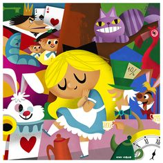 Alice in Wonderland #alice #kiki viale #disney