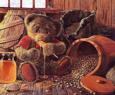 Уютный мир плюшевых мишек / сказка, картины, мишки, джон бинден