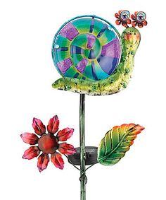 Look at this #zulilyfind! Snail Solar Garden Stake #zulilyfinds