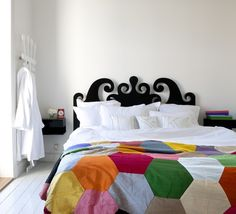 Great idea for a quilt - large hexagons