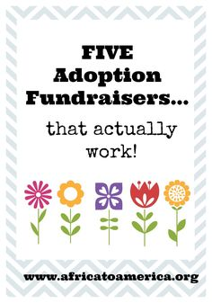 Five adoption fundraisers that are effective without being awkward! Read through the end of the post to the organizations that assist with fundraising support from families. Foster Care Adoption, Foster To Adopt, Adoption Options, International Adoption, Adoption Party, Adoptive Parents, Baby E, Adoption Process, Surrogacy