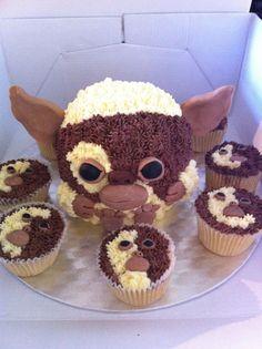 Mogwai Cake and Cupcakes - Gremlins Movie