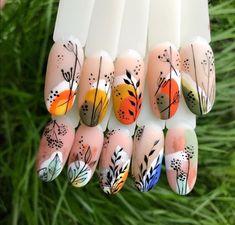 Nail Art Designs, Colorful Nail Designs, Colorful Nails, Nails Design, Gel Nail Art, Gel Nails, Acrylic Nails, Marble Nails, Cute Nails
