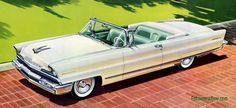 Plan59 :: Classic Car Art :: Vintage Ads :: 1956 Lincoln Premiere Convertible