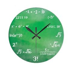 Mathematics Equation Quiz for Geeks Wall Clock (427.350 IDR) ❤ liked on Polyvore