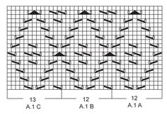 lace pattern :  = K from RS, P from WS  = = 1 YO between 2 sts  = slip 1 st as if to K, K 2 tog, psso  = K 2 tog  = slip 1 st as if to K, K 1, psso  = knitting direction