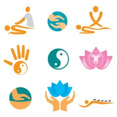 Vector Fitness with meditation logo set 01 - Vector Logo free download
