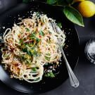 Try the Fresh Spaghetti with Lemon and Parmesan Recipe on williams-sonoma.com/