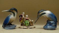 COPPIA Uccelli animali porcellana Royal COPENHAGEN Gerhard Henning BING GRONDAHL