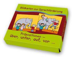Bildkarten zur Sprachförderung: Präpositionen - über, unter, auf, vor... ++ Das Trainieren von lokalen Präpositionen hilft Kindern bei der räumlichen Orientierung. Mit diesen lustigen und motivierenden Bildkartenmotiven üben sie spielerisch, aber ganz gezielt die Benennung von Ortsangaben. Je zwei Motive lassen sich zu einer Bildfolge zusammenlegen. #Grundschule #Kindergarten #DaZ #Sprachförderung