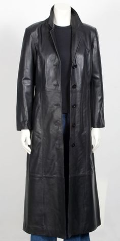 Men long leather coat men full length leather coat by ukmerchant, $229.99