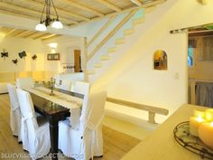Welcome to the luxury Mykonos villa Argus! Its location in Ornos is ideal for partying since it is only km from Mykonos center and km from the. Mykonos Villas, Dining Room, Loft, Luxury, Bed, Furniture, Home Decor, Decoration Home, Stream Bed
