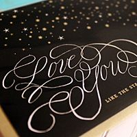 The Windmill presents greeting cards from Fig. 2's Letters for Love collection. Featuring hand calligraphy, colored envelopes, and fresh design.