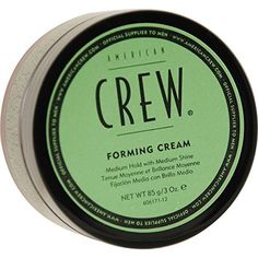 American Crew 3936734 By American Crew Forming Cream (Ivory) For Medium Hold And Natural Shine 3 Oz [packaging May Vary] Hair Gel, Wet Hair, American Crew, Men's Grooming, Beauty Supply, Hair Type, Straight Hairstyles, Natural, Health And Beauty
