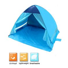Sale 10% (39.99$) - IPRee™ Outdoor 3-4 Persons Waterproof Tent Quick Open Canopy UV Sun Shelter For Camping Hiking