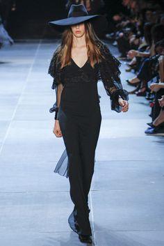 @Saint_Laurent #catwalk #trends #black #PFW #Paris #in