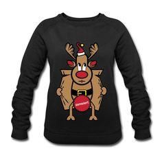 Dirty Rudolph zu Weihnachten als Geschenk. Dirty Rudolph - zensiert. Rudolph überzeugt mit seiner roten Nase. Ein ideales Geschenk zu Weihnachten, Neujahr und Geburtstag für Weihnachts Liebhaber und Ungly Xmas Fans. In verschiedenen Farben #rudolph #the #rednose #ugly #xmas #love #christmas #germany #weihnachten #merrychristmas #christmastime #advent #spreadshirt #tshirt #fashion #style #hoodie #weihnachten #fashion #geschenkideen #geschenke Pullover, Advent, Sweatshirts, Sweaters, Fashion, Red Nose, Gifts For Women, Sporty, Long Sleeve