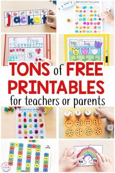 Tons of free printables for preschool, kindergarten and early elementary! Math printables, literacy printables, alphabet printables, science printables and more!