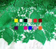 Hey, I found this really awesome Etsy listing at https://www.etsy.com/listing/185453670/green-lace-fabric-chemical-lace-fabric