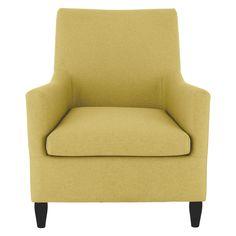 KANE Yellow fabric armchair