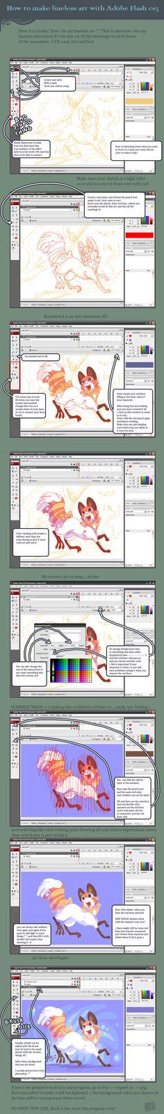 Lineless art flash tutorial by griffsnuff.deviantart.com