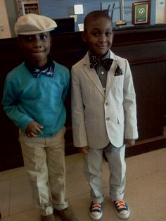 Lil guys rock'n custom made bow ties!>>>I would LOVE my little boys to dress like this for church!