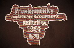 Drunknmunky Unlimited Men's XL T-Shirt Rubberized Graphic State Outlined #DrunknmunkyBrand #GraphicTee