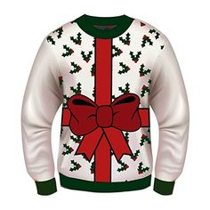 Adult Mens Make Your Own Design Tacky Ugly Christmas Sweater Red Sweater Kit