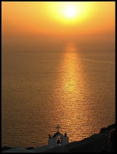 BEEN THERE: Sunset at Oia on the island of Santorini, Greece.  It is THAT GORGEOUS!