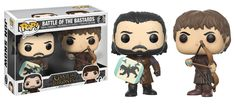 From game of Thrones, Jon snow and Ramsay Bolton, battle of the bastards 2 pack pop! vinyl from Funko. These figures stand 3 and inches tall and come in a window box display. Perfect for any game of Thrones fan! collect all Funko game of Thrones figures! Bran Stark, Sansa Stark, Bolton Game Of Thrones, Game Of Thrones Toys, Pop Game Of Thrones, John Snow, Mystery Minis, Funko Pop Figures, Pop Vinyl Figures