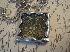 METAL ART SILVER  Soldered Glass Pendant by victoriacharlotte, $10.00
