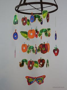 The Very Hungry Caterpillar Decorative Mobile by whimsicalaccents. Perfect for your nursery, bedroom or classroom.