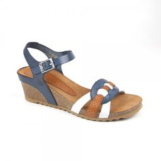 Sandal two pieces with strips. Height wedge on the back of cm and .gr - - Sandal two pieces with strips. Height wedge on the back of cm and . Ankle Strap Sandals, Leather Sandals, Shoes Sandals, Cute Shoes, Me Too Shoes, Girls Sandals, Fashion Shoes, Shoe Boots, Footwear