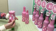 Botellas con globo