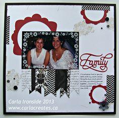 "Carla Creates: CTMH ""For Always"" 1 page layout using Cricut ""Artiste"" cartridge"