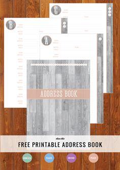 Free Printable Address Book - how's your Home Organizer going so far? #freeprintable #organizing #addressbook