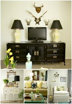These vignettes are the results of a One Room Challenge to transform a space in the home...